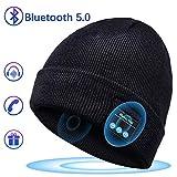 Bluetooth Chapeau Cadeaux Hommes Original - Unisexe Music Bonnet Bluetooth Chapeau avec écouteurs Stéréo Sans Fil, Doux Chaleureux Bluetooth Chapeau d'hiver, Convient à Sports, Ski, Patinage, Marche