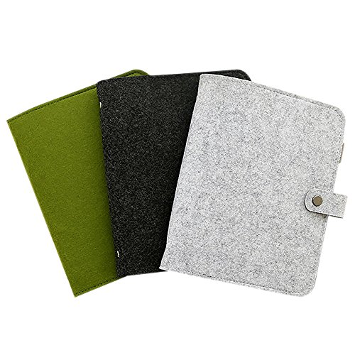 Zhi Jin A5 Wollfilz Nachfüllbares Notizbuch Ringbuch Kalender harter Umschlag Notizblock Tagebuch Memo Stifthalter Green-Ruled Paper (Binder A5)