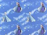 Deko Baumwollstoff Frozen 3 blau, Meterware ab 0,5