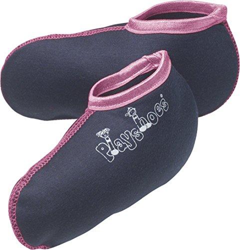 Playshoes Mädchen Füßling 189990  Stiefelsocken / Einziehsocken für Gummistiefel und Stiefel, Gr. 34/35,, Mehrfarbig (marine/pink) (Socken-füßlinge Mädchen)