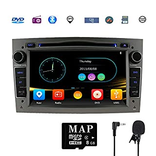 Stereo Home Car Stereo Satellite GPS Navigator for Vauxhall Double Din Head Unit 7