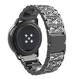 TiMOVO Cinturino Compatibile con Galaxy Watch 42mm/Gear S2 Classic/Galaxy Watch Active/Active 2/Forerunner 245, Braccialetto in Acciaio Inossidabile, Sostituibile con Bottone Pieghevole - Nero