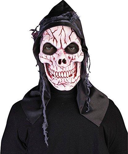 Erwachsene Sensenmann Halloween Gruslige Party Kostüm Zubehör Totenkopf Maske - Ghost, One (Erwachsene Kostüme Totenkopf Sensenmann)
