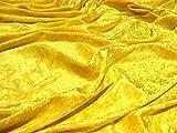STOFFKONTOR Pannesamt Stoff Meterware Gold-Gelb