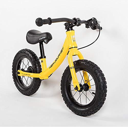 Fahrrad-Roller ohne Pedal Kinderfahrrad Zwei-Rädern 2-6 Jahre altes Baby 12 Zoll aufblasbare Schiebe Auto Übung Kinder Fahrrad (Schiebe-vogel)