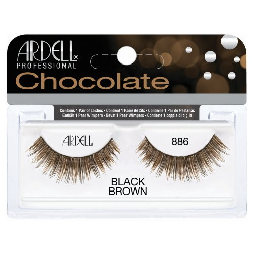 (6 Pack) ARDELL Professional Lashes Chocolate Collection - Black Brown 886
