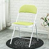 Haoli-chairs Innenmöbel Klappstuhl Kunstleder Sitz & Rückenlehne Computer Büro Ergonomischer Konferenzstuhl (Farbe : Green)