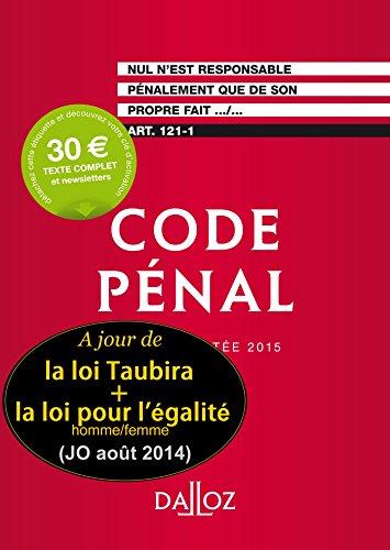Code pénal 2015. Édition limitée - 112e éd.