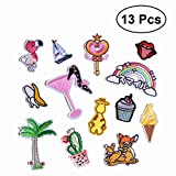 #6: SUPVOX 13pcs Iron On Clothes Patches Sewing Repair Patches Embroidery Patches Appliques for Jackets Jeans Backpacks