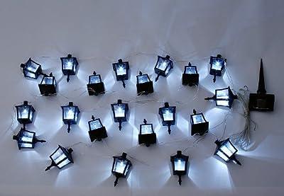 24 LED Solar-Lichterkette m 24 Laternen Pavillonbeleuchtung von Nexos Trading auf Lampenhans.de