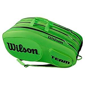 Wilson Damen/Herren Tennis-Tasche, für Profispieler, Team III 12 PK, Einheitsgröße, blau/weiß, WRZ850812