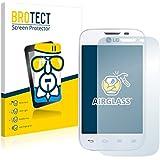 BROTECT AirGlass Protector Pantalla Cristal Flexible para LG L40 D170 (Dual Sim) Protector Cristal Vidrio - Extra-Duro, Ultra-Ligero