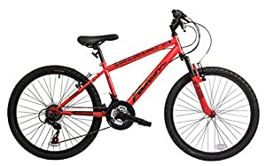 "Falcon Raptor Boys' Mountain Bike Red/Black, 14"" inch Steel Frame"
