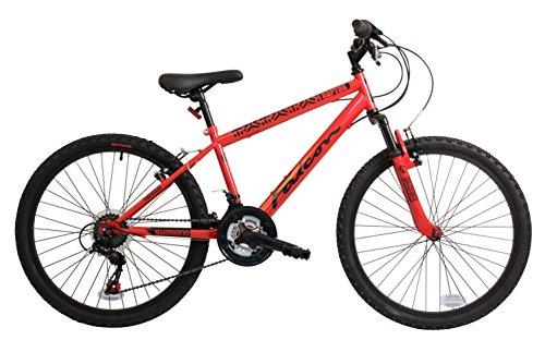 Falcon Raptor 24 Inch Boys Front Suspension Mountain Bike 18 Speed Gears Red- MV