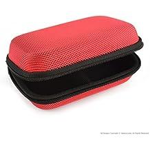 Carcasa rígida media player Funda de transporte para M3FiiO X1X3X5X7, Sony nwza17NW-ZX100, Creative E1E3/protectora Bolsa de viaje (rojo)
