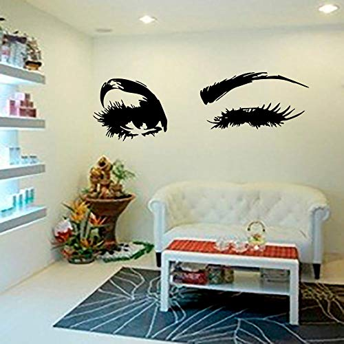 WWYJN Wall Decal Beautiful Big Eye Lashes Wink Decor Wall Art Mural Vinyl Decal Stickers Interior Design Bedroom Sticker  40X106CM