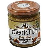 MERIDIAN - Beurre de Coco et amandes et miel - sans huile de palmier - Sans Gluten - Vegano - 170 gr - en pot...