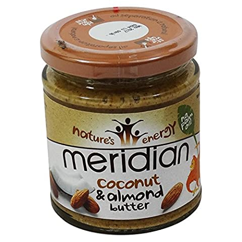 MERIDIAN - Coco Butter und Honig und Mandeln - ohne Palmöl - Glutenfrei - Vegano - 170 gr - Glasglas