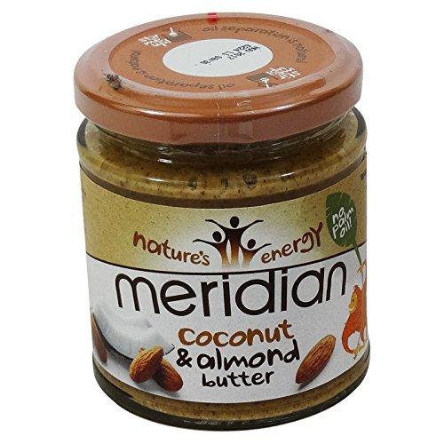 MERIDIAN - Burro di Cocco e mandorle e miele - senza olio di palma - (Burro Biologico Nocciola)