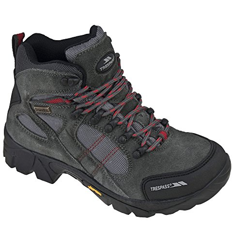 Trespass Ridgeway Damen Leder Wanderstiefel (39 EUR) (Grau) - Slouchy Boot-plattform