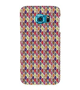 iFasho Animated Pattern colrful design leaves Back Case Cover for Samsung Galaxy S6 Edge Plus
