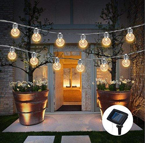Wasserdichte Solar-Glühbirne-Kette, LED-Solar-Ananas-Kette, Outdoor-Garten, Möbel, Hochzeit, Weihnachten, Sommer Party (3,8 M 10 Blasen)