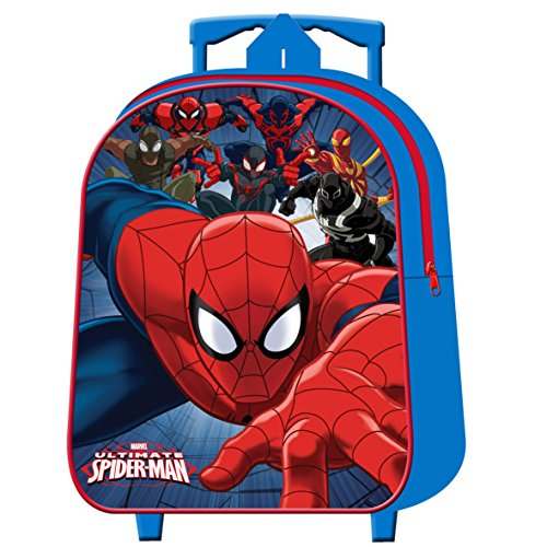 Zaino trolley asilo per bambino ultimate spiderman marvel