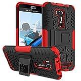 FALIANG Asus Zenfone Go TV(ZB551KL) Funda, 2in1 Armadura Combinación A Prueba de Choques Heavy Duty Escudo Cáscara Dura para Asus Zenfone Go TV(ZB551KL) (Rojo)