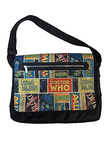 Doctor Who Messenger Bag with Retro Comic Theme