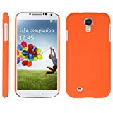 handy-point Hardcase COBI gummierter Kunststoff Kunststoffhülle Hülle Schale Schutzhülle Handyhülle Handyschale cover Kunststoffschale für Samsung Galaxy S4, Orange