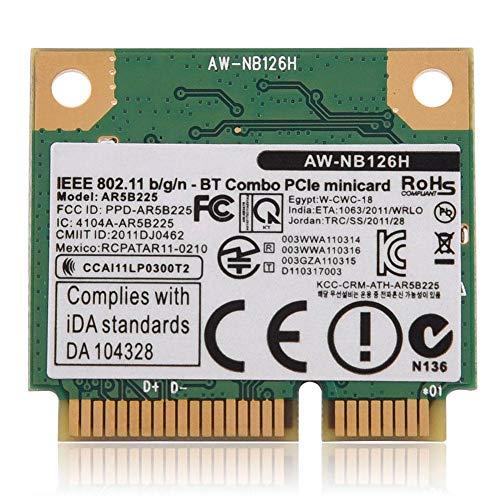 Mbps V4.0 2.4G WiFi 2 in 1 Wireless Karte für PC/Laptop Mini PCI-E Slot Machen Sie Gaming und HD Video fließend ()