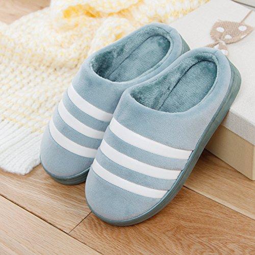 DogHaccd pantofole,Inverno paio di pantofole di cotone pantofole gli uomini e le donne a rimanere a casa per riscaldare antiscivolo peluche spesse pantofole Verde chiaro4