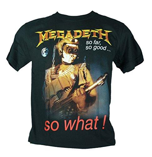 Megadeth-Maglietta da uomo nero So Far So Good So What Extra Large Size Xl