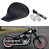 Sange Motorrad Solo Sitz Ledersitz Mit Feder und Montagesatz für Harley Sportster Custom Chopper