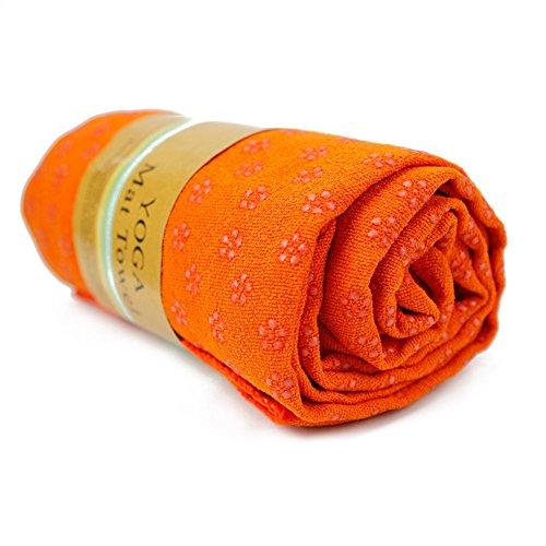 "CHIC-CHIC Tapis Antidérapant Premium Couverture Yoga Pilates Serviettes Sport Fitness Exercise Mat (Orange, 183*61cm/72.0""*24.0"")"
