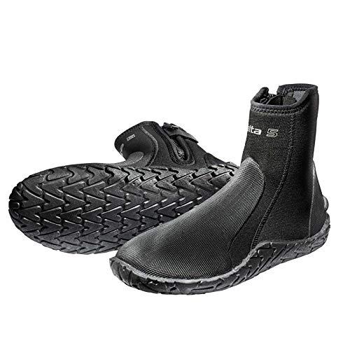Scubapro Delta - Botas de Buceo de Neopreno de 5 mm con Cremallera Lateral | 2019 Botas de Neopreno Unisex, para Deportes acuáticos, Buceo, esnórquel, Playa, Barco, Barro, Kayak y Mucho más.