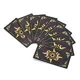 Haofy Carta di tarocchi bagnata del cavaliere d'annata 78 carte, carta dei tarocchi con stampa a colori della carta da gioco