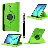 Kamal StarŽ Samsung Galaxy Tab S2 8.0 (SM-T710 / T715) Smart Book Cover Case - Ultra Slim Light Weight Stand Supports 360 Viewing Angles with Auto Sleep/Wake Feature + Free Stylus (Green 360)