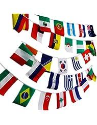 """navadeal 8""""x12"""" Mundo Banderas Combo colgar Nacional Países Juegos Olímpicos Deportes Varios Nación"""