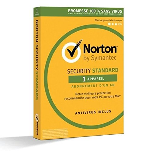 Preisvergleich Produktbild Norton Security 2017 Standard (1 appareil / 1 an) ATT