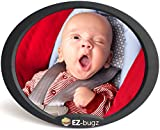Miroir de voiture pour bébé, rétroviseur ajustable pour siège auto orienté vers l'arrière, surveiller votre enfant installé sur la banquette arrière, par EZ-Bugz