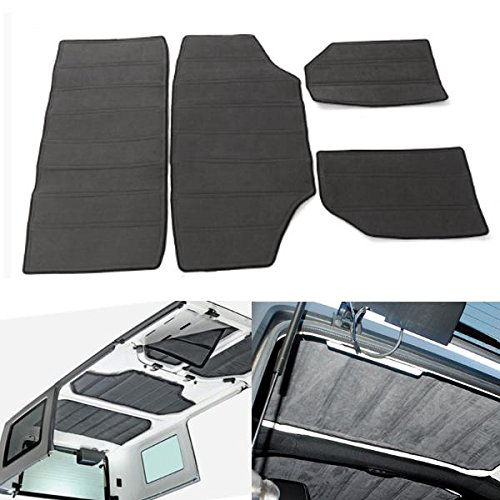 4pcs-gray-hardtop-sound-deadener-heat-shield-insulation-kit-pour-11-16-jeep-wrangler-jk-4-doors