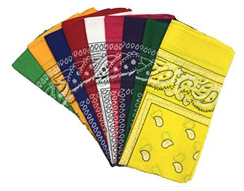 Unbekannt Bandana Kopftuch Halstuch Nickituch Biker Tuch Motorad Tuch verschied. Farben (6er Set gemischt)