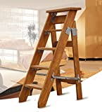 Hty td Einseitige Leiter Herringbone Folding Single Straight Massivholz-Loft Ascend The Ladder