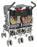 Maclaren AOX14062 - Organizador universal para silla de paseo gemelar, color negro