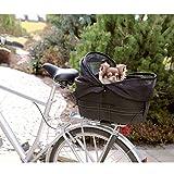Borsa da bici Trixie Borsa da bici Trixie per il trasporto di cani piccoli (peso max. 8 kg) sul portapacchi, con struttura robusta e sicura, breve guinzaglio incorporato, rete protettiva e inserto imbottito estraibile.