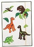 Bastelset 3-D Gummizugmappe A3 - Dino grün Urzeit Jungen
