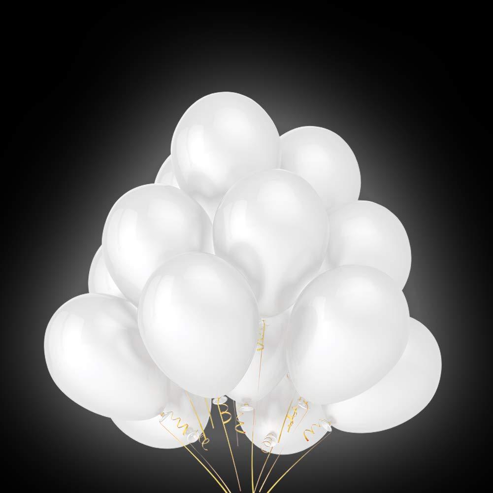 Globos de luz LED Blancos, 40 Piezas Globos Led Globos Luz para Fiesta Boda Fiesta Cumpleaños Navidad Reunión Ceremonia