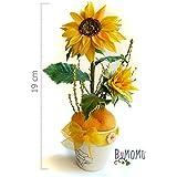 Flores de Porcelana Rusa Miniatura GIRASOL Home Decor regalo - HAND MADE