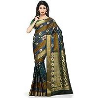 Platinum Present Multi Color Art Silk Saree with Blouse Piece.